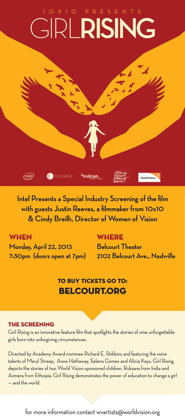See Docu-Film Girl Rising at the Belcourt Monday Night